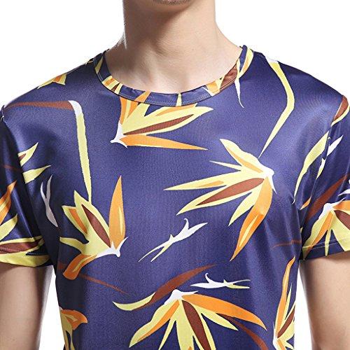 Whatlees Unisex Digital Printing Schmale Passform T Shirts mit Bunt Karikatur 3D Druck Muster B056-69