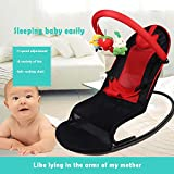 AYUE®Automatic Appease Baby Schaukelstuhl Baby Balance Cradle Sessel,Red