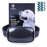 Hunde trainingshalsband für kleine und mittelgroße Hunde mit Vibration. Kontrolle von übermäßigem Bellen mit diesem einfachen Antibell Halsband. Sicher und human ohne Schock (GoodBoy, Schwarz)