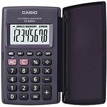 CASIO HL-820 Calculadora de bolsillo con tapa - 8 Digitos Pantalla Grande