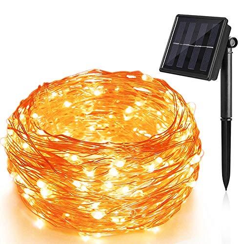 terkette Kupferdraht Aussen Warmweiß 200 LEDs 20 Meter, 8 Modi IP65 Wasserdichte, Innen und Außen Weihnachtsbeleuchtung für Garten Weihnachten Hochzeit Party ()
