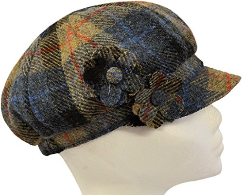 Harris Tweed Damen Schirmmütze One size Gr. One size, Brown Tartan