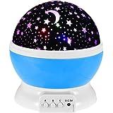بروجكتور عرض بمصباح ليد دوار USB ستار ماستر - مصباح ليلي بتصميم سماء مليئة بالنجوم لغرف نوم الأطفال والبيبي- متعدد الالوان