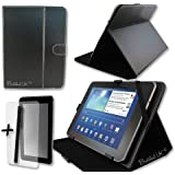 """Black PU Leather Case Cover Stand for ARGOS BUSH MYTABLET2 8"""" 8 inch Tablet PC + Screen Protector + Stylus Pen"""