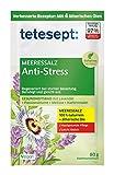 tetesept Meeressalz Badezusatz Anti-Stress | Badesalz mit ätherischen Ölen - beruhigt und regeneriert bei starker Belastung | 5er Pack à 80 g