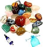 Mixed Bag Tumblestones 100grms with Organza Bag
