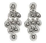 Boucles d'oreilles clips - Argent antique plaqué avec cristaux clairs - Carissa par Bello London