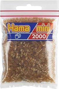 Desconocido Hama Perlen 501-25 - Mini Perlas Transparentes 2.000 Unidades / marrón Importado de Alemania