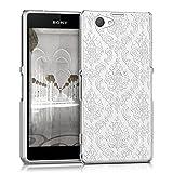 kwmobile Cover per Sony Xperia Z1 Compact - Custodia rigida trasparente per cellulare - Back Case cristallo in plastica bianco trasparente