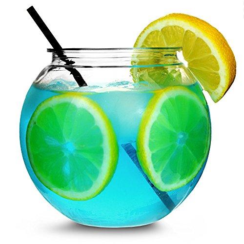 Lot de 4 verres individuels à cocktail en forme d'aquarium - 567 g/568 ml/11 cm - Diamètre :185 mm.
