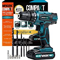 MYLEK 18V Cordless Drill Driver - Lithium Ion Drill Set - 13 Piece Combi Accessory Kit - LED Worklight