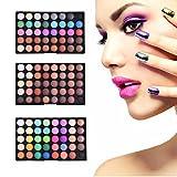 Popfeel 120 Farben Lidschatten Palette Augen-Makeup Pearl Matt Erdfarbe Eyeshadow Smoky Makeup Nude Make-up Professionellen Mini Lidschatten Farbpalette Molie