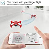 DoDoeleph FPV Mini Pocket RC Drone With Camera Syma X22W Quadcopter RTF Helicopter Gravity Sensor Nano Drone Auto Hover Function Headless Mode 2.4Ghz 6 Axis Gyro 4CH for Kids from DoDoeleph