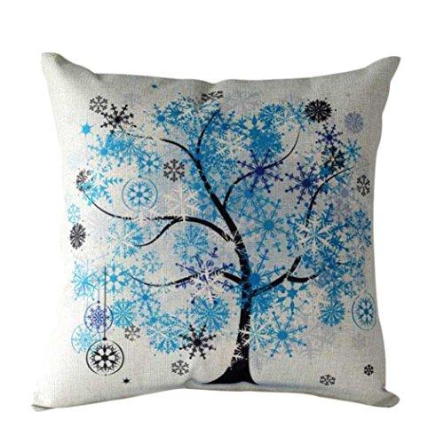 Beito Kissen Schutzhülle Vintage Floral bedruckte Baumwolle Kissen Fall (blau) -