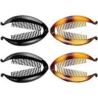 4 Piezas Clips de Plátano Peines de Peine Ancho Tono Peine Pinzas de Pelo Largo Tamaño de Diapositiva de Agarre de Pescado 14 cm