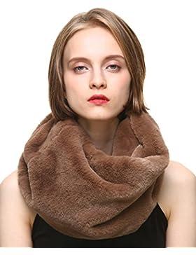 Vogueearth Donna'Real Knitted Volpe Pelliccia/Pelliccia Sintetica Faux Fur Due Materiali Scelgono Wraps Sciarpa...