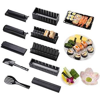 DIY cucina giapponese a casa//facile e divertente//utensile da cucina 3pcs riso piccolo rotolo sushi Mold QIND sushi in kit