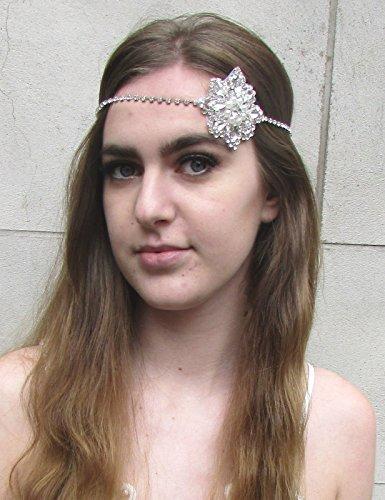 Argent Diamante bandeau Gatsby style vintage années 1920 Flapper Bandeau de Mariée A79 * * * * * * * * exclusivement vendu par - Beauté * * * * * * * *