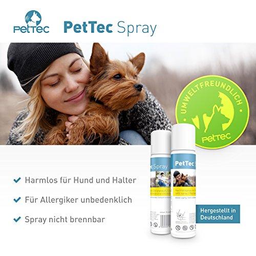 PetTec Antibell Spray Trainer Pro Erziehungshalsband mit automatischer Sprühfunktion inkl. Antibell Spray + 1 Gratisspray - 4