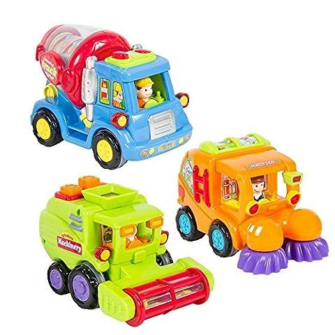 Spielzeugauto für Kleinkinder Set mit 3 reibungsbetriebenen Spielzeugen – Reibungsbetriebener