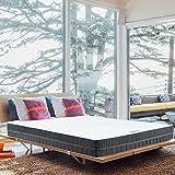 BedStory Matratze 140×200cm 18cm, 7-Zonen-Kaltschaummatratze Orthopädisch, 2 in 1 Liegehärten H2&H3 mittelfes Grau