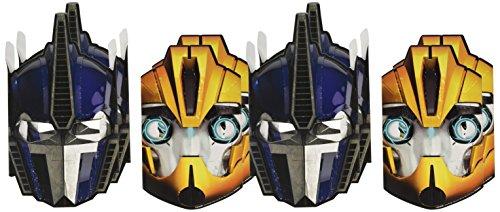 Transformers Papier Masken (8Stück) (Halloween-kostüm Transformers)