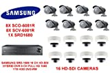 DVR SAMSUNG SRD-1680 16 ch HD-SDI HYBRID 1 TB HDD Kameras WITH16 HD-SDI 8X SC0-6081R aowallao AND aowallao 8X SCV-6081R