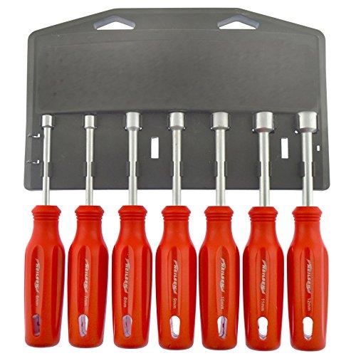 Metrisches mm Stubby Nut Driver Spinner Schraubendreher 7PC Set 6mm-12mm