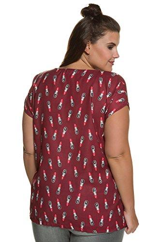 Studio Untold Femme Grandes Tailles | Blouse Femme Tendance Imprimé Rouge à Lèvres Manches Courtes | 711694 Multicolore