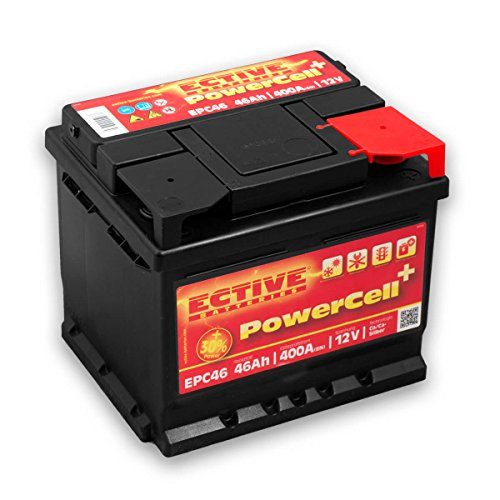 ECTIVE 46Ah 400A EPC-Serie 12V Autobatterie in 8 Varianten: 46Ah - 100Ah (wartungsfrei)