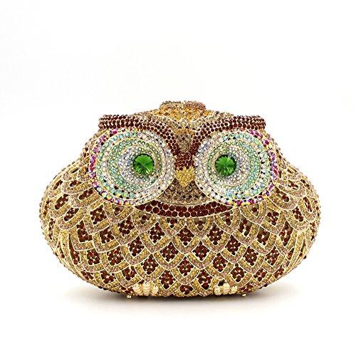 Il gufo di Diamante di lusso Borse sera donne preferito borsetta party di nozze portamonete della frizione B
