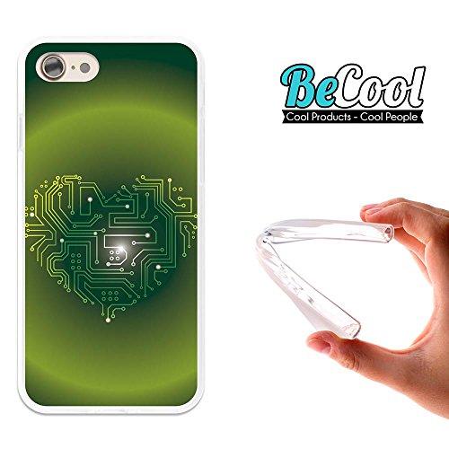 BeCool®- Coque Etui Housse en GEL Flex Silicone TPU Iphone 8, Carcasse TPU fabriquée avec la meilleure Silicone, protège et s'adapte a la perfection a ton Smartphone et avec notre design exclusif. She L1493