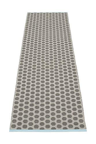 pappelina Teppich NOA 70x90cm charcoal / warm grey Kunststoff 7340020406639