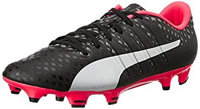 Men's Evopower Vigor 3 Fg Black, Silver, Quiet Shade and Bright Plasma Football Boots - 10 UK/India (44.5 EU) (10395602)