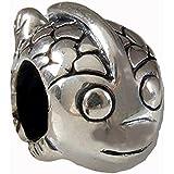 Happy de peces pez auténtico 925 de plata de ley compatible con joyas Pandora Biagi Chamilia Troll Europen pulseras colgantes
