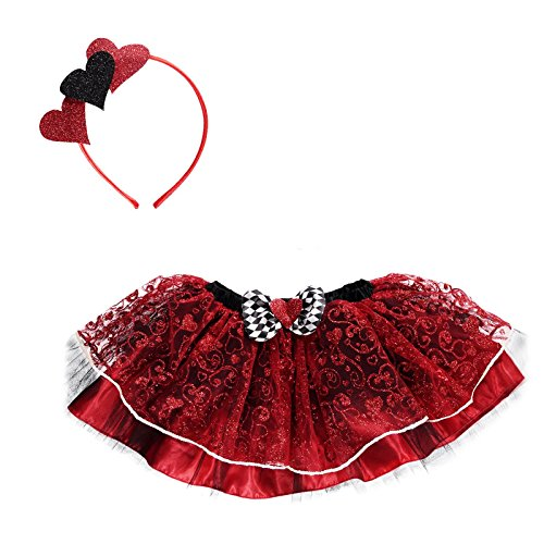 Amscan Kleid bis queenh-ml Königin der Herzen Tutu Kleid bis, Mädchen, nicht massiv Farbe, ()