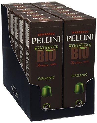 Pellini Caffè, Espresso Pellini Bio Arabica 100{e639351708f3d4333ec4a61ee3c5fda6d9835c8b1582a7f360cf02a5b20d5ee9}, Compatibili Nespresso, 12 Astucci da 10 Capsule, 120 Capsule