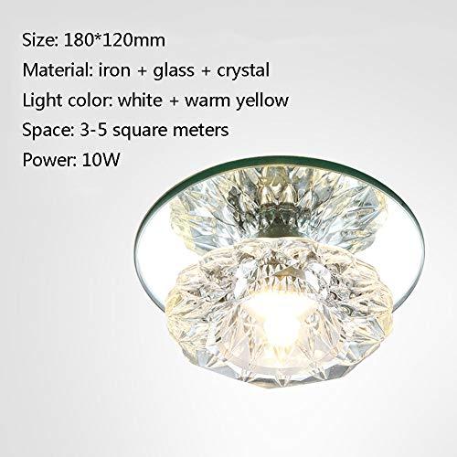 WETRR Crystal Ceiling Lights LED Light K9 Crystal Modern Pendant Ceiling Light Fixtures Flush Mount Lighting for Living Room Bedroom Restaurant Porch,1 - Crystal Ceiling Mount