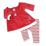 I luv Santa NEU | Weihnachten Mädchen Set Kleid mit Leggings Merry Christmas | 62 68 74 80 9-12 Monate (74/80)