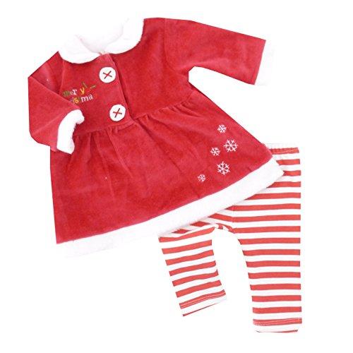 NEU | Weihnachten Mädchen Set Kleid mit Leggings Merry Christmas | 62 68 74 80 6-9 Monate (68/74)