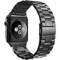 Simpeak Correa apple watch Series 3 / Series 2 / Series 1 Correa Reemplazo para Apple Watch 42mm Correa de Acero Inoxidable Reemplazo de Banda de la Muñeca con Metal Corchete para Apple Watch Todos los Modelos 42mm