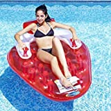 Best Pool Loungers - Pool Inflatable - The Strawberry Lounger Review
