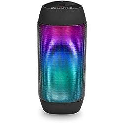 Beatfoxx LEDBeat haut-parleur portable LED Bluetooth USB, SD, AUX, noir