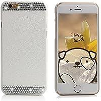Samsung Galaxy S7Schutzhülle, elecfan® Smart B machen cristallo corona strass e perla stile diamante scintille gamba duro plastica copertura per i Kast cellulare fatti a mano di lancio/Case per Samsung Galaxy S7 bianco