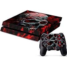 Gosear® PS4 Controller Skin, Sony PlayStation 4 Console y 2 controladores DualShock Llama Cráneo Pegatina Cubierta, Adhesivos para ps4 sticker