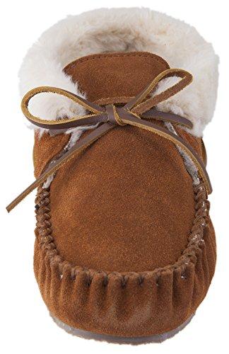 Minnetonka Chrissy,Pantofole Donna Marrone