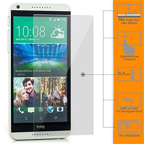 zanasta Bildschirmschutz Folie kompatibel mit HTC Desire 816 Bildschirmschutzfolie aus gehärtetem Glas Schutzglas Glasfolie Schutzfolie | Klar Transparent