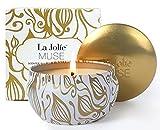 La Jolíe Muse Duftkerze Vanille Kokosnuss 100% Sojawachs Geschenk Kerze in Dose 185g 45Std