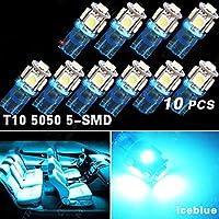 10x iceblue t10 5SMD 5050 auto cupola licenza mappa luce W5W 158 192 194 168 ( Colore della luce : Blu