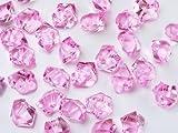 takestop® Stein Steine Kieselsteine Steine Kristall Pink 200Gramm Dekoration Ornament Dekorationen Aquarium Vase Wedding Teich Garten
